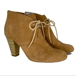 FOSSIL Tan Suede Desert Ankle Boots Booties